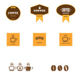Set of retro coffee labels Stock Photos
