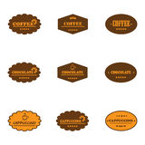 Set of retro coffee labels Stock Photo