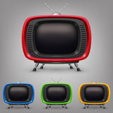 Set retro color tv. Vector illustration in eps10 Stock Images