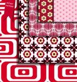 Set Retro colorful geometric patterns. Stock Photos