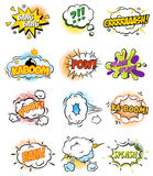 Set of Retro Comic Book Vector Design elements royalty free illustration