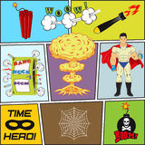 Set of Retro Comic Book Vector Design elements Stock Photo