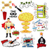 Set of Retro Comic Book Vector Design elements Royalty Free Stock Images