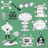 Set of Retro Comic Book Vector Design elements Royalty Free Stock Photo