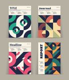 Set of retro covers. Collection of cool vintage covers. Abstract shapes compositions. Vector. Set of retro covers. Collection of cool vintage covers. Abstract Royalty Free Stock Photo