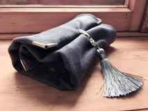 Set retro czyści wino aromaty używać dla sommelier torby powłóczystego aksamitnego nesesser zdjęcie royalty free