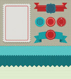 Set of retro design elements. Vector labels, ribbons, buttons royalty free illustration