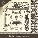 Set of retro design elements. Vector set: calligraphic design elements and page decoration - lots of useful elements to embellish your layout Stock Image