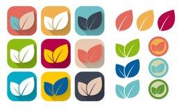 Set of retro eco icons. Royalty Free Stock Photo