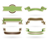 Set of retro Eco ribbons. Royalty Free Stock Photo