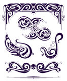 Set of retro elements in Art Nouveau style Stock Photo