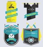Set Retro etykietki i odznaka Zdjęcia Stock