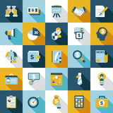 Set of retro flat business icon Stock Images