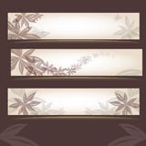 Set of retro floral banners Royalty Free Stock Images