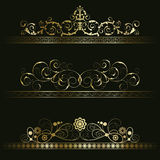 Set from retro frames Royalty Free Stock Photos