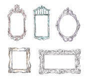 Set of retro frames Stock Image