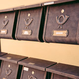 Set of retro germany mailboxes Stock Photography
