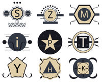 Set of retro hipster vintage badges, ribbons and labels stock illustration