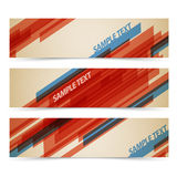 Set of retro horizontal banners Royalty Free Stock Photography