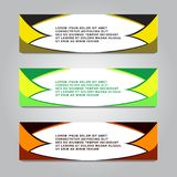 Set of retro horizontal banners - with place for your vector illustration