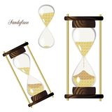 Set retro hourglass isolated on white background stock illustration