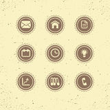 Set of retro icons: business theme. Royalty Free Stock Images