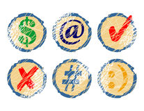 Set Retro- Ikonen Lizenzfreies Stockfoto