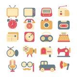Set retro ikony Zdjęcie Stock