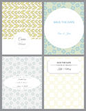 Set of retro invitation card on blurred background Stock Image