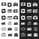 Set Retro kamera logo ilustracji