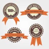 Set Retro Kennsätze der Qualität Lizenzfreies Stockfoto