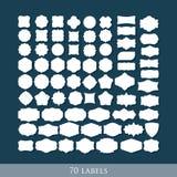 Set of 70 retro label shapes for design