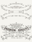 Set Of Retro Label Style  Page Elements Royalty Free Stock Photos