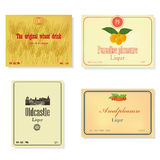 Set of a retro of labels. Stock Photo