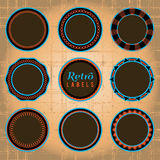 Set of Retro Labels and Badges. Set of 9 retro labels and badges. EPS Vector available: Vector labels use only fill colors, no transparencies, gradients, or vector illustration
