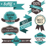 Set of retro labels and banners. Sale. Vector Illustration Royalty Free Stock Images