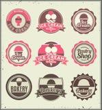 Set of retro labels. Royalty Free Stock Photos