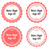 Set of Retro labels logo shape Royalty Free Stock Images