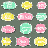 Set of retro labels. Royalty Free Stock Photography