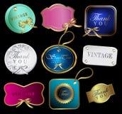 Set of retro labels. Vector illustration. Royalty Free Stock Photo