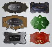 Set of retro labels. Vector illustration. Royalty Free Stock Photo