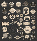 Set of retro labels. Vector illustration. Royalty Free Stock Photos