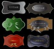 Set of retro labels. Vector illustration. Stock Image