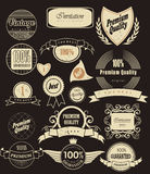Set of retro labels. Vector illustration. Stock Photography
