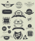 Set of retro  labels. Vector illustration. Royalty Free Stock Images
