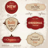 Set of retro labels Stock Photo
