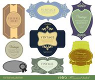 Set retro Labels Stock Photos