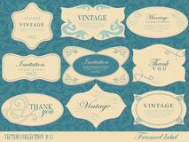 Set retro Labels Royalty Free Stock Images