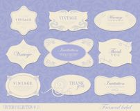 Set retro Labels Royalty Free Stock Photography
