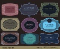 Set retro Labels Stock Photo